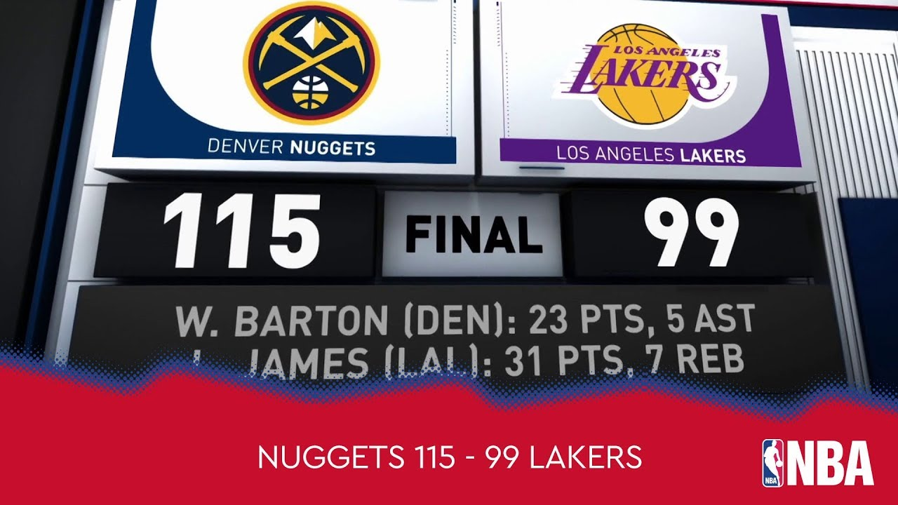 Denver Nuggets 115 - 99 Los Angeles Lakers