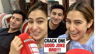 Sara Ali Khan With Brother Ibrahim Share A Funny Video   MUST WATCH
