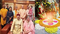 Mohena Kumari Singh shares glimpse of Diwali celebration with her in-laws   FilmiBeat