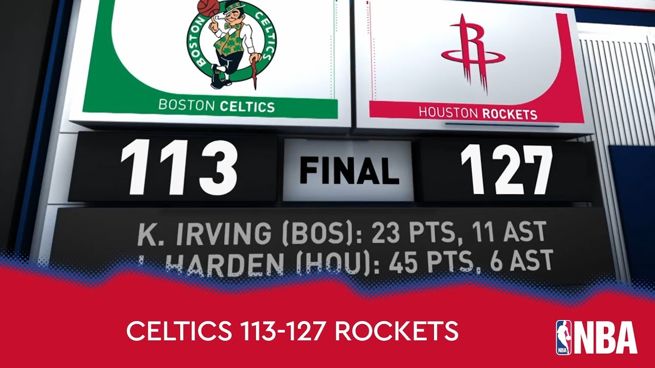 Boston Celtics 113-127 Houston Rockets