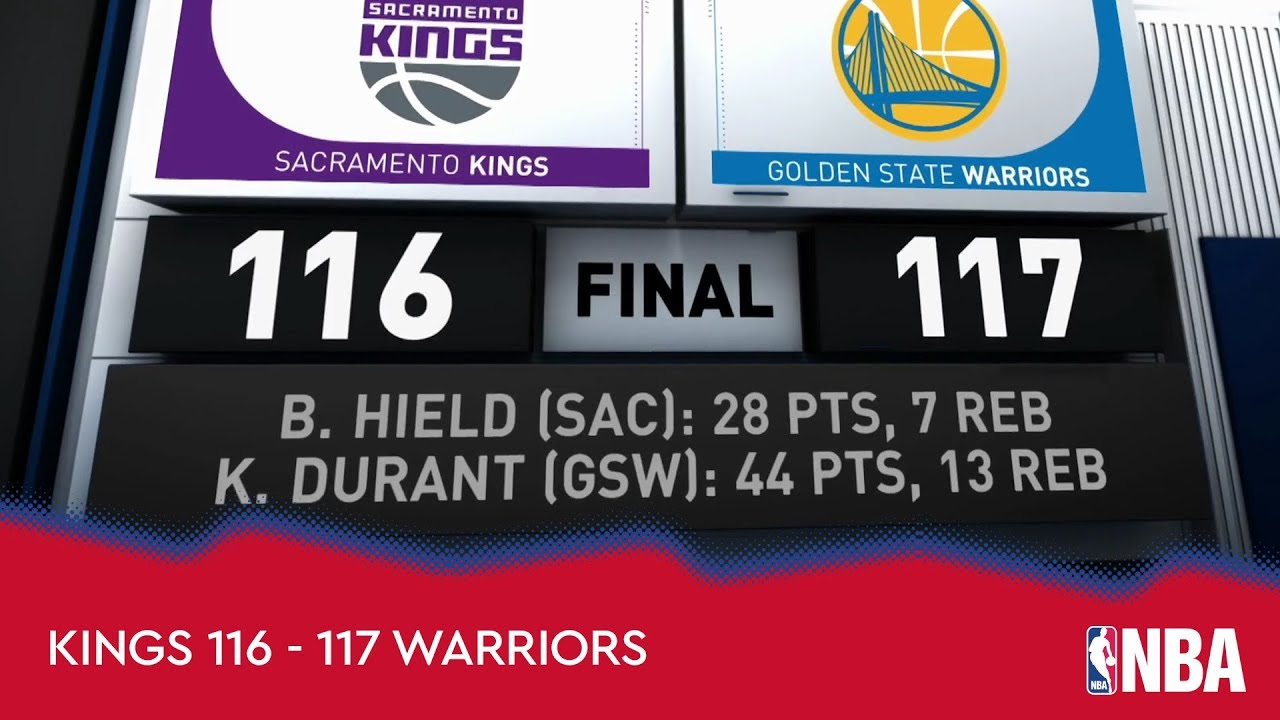 Sacramento Kings 116-117 Golden State Warriors