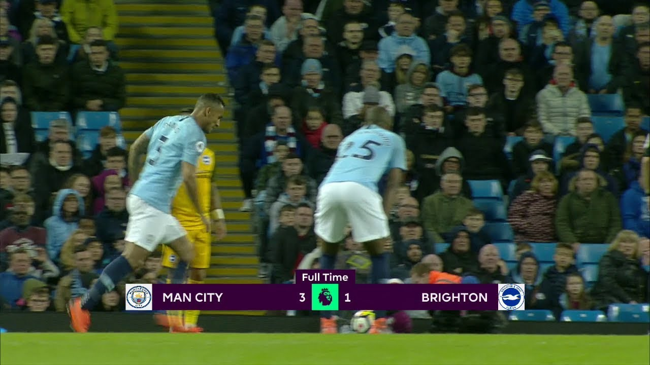 Manchester City - Brighton (3-1) - Maç Özeti - Premier League 2017/18