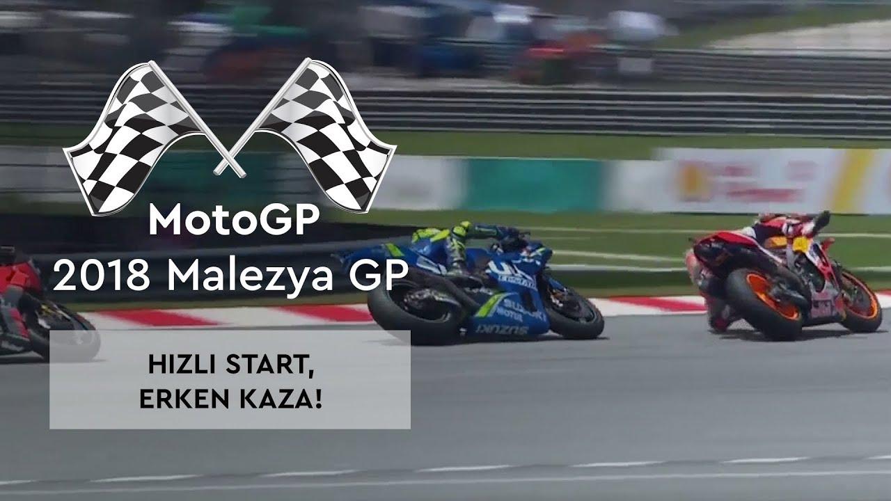 Hızlı Start, Erken Kaza! (MotoGP 2018 - Malezya Grand Prix)