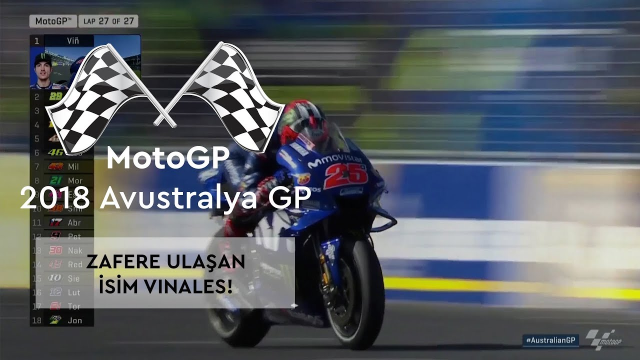 Zafer, Maverick Vinales'in! (MotoGP 2018 - Avustralya Grand Prix)