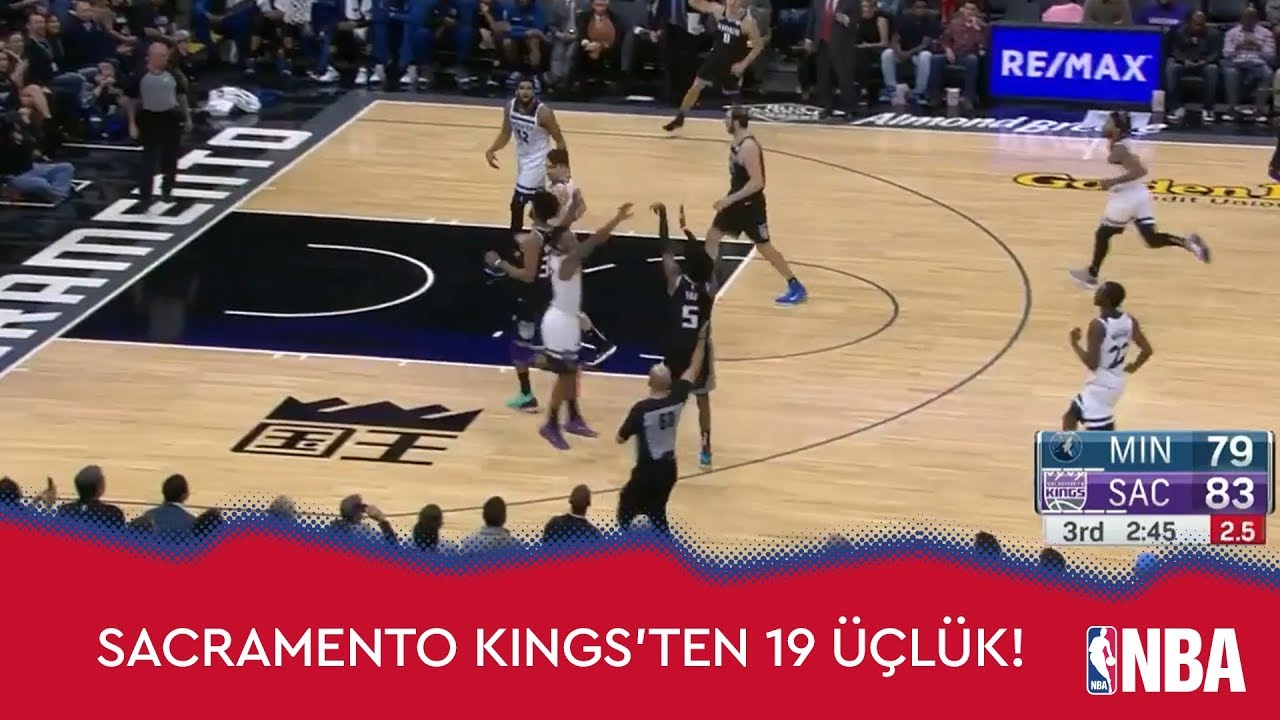 Sacramento Kings'ten 19 Üçlük!