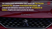 Vers une fusion entre PSA et Fiat Chrysler ?