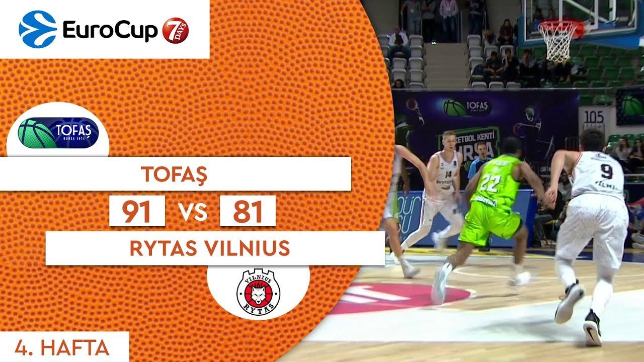 Tofaş 91 - 81 Rytas Vilnius | Maç Özeti - EuroCup 4. Hafta