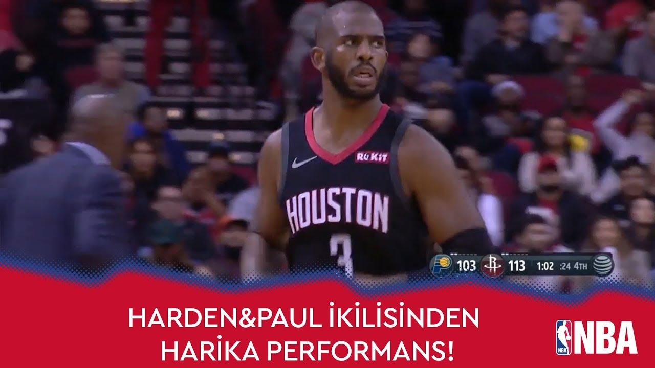 Harden&Paul İkilisinden Pacers'a 66 Sayı!
