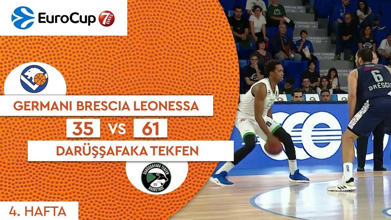 Germani Brescia Leonessa 35 - 61 Darüşşfaka Tekfen | Maç Özeti - EuroCup 4. Hafta