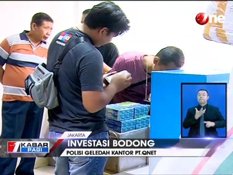 Dugaan Investasi Bodong Polisi Geledah Kantor Qnet Jakarta