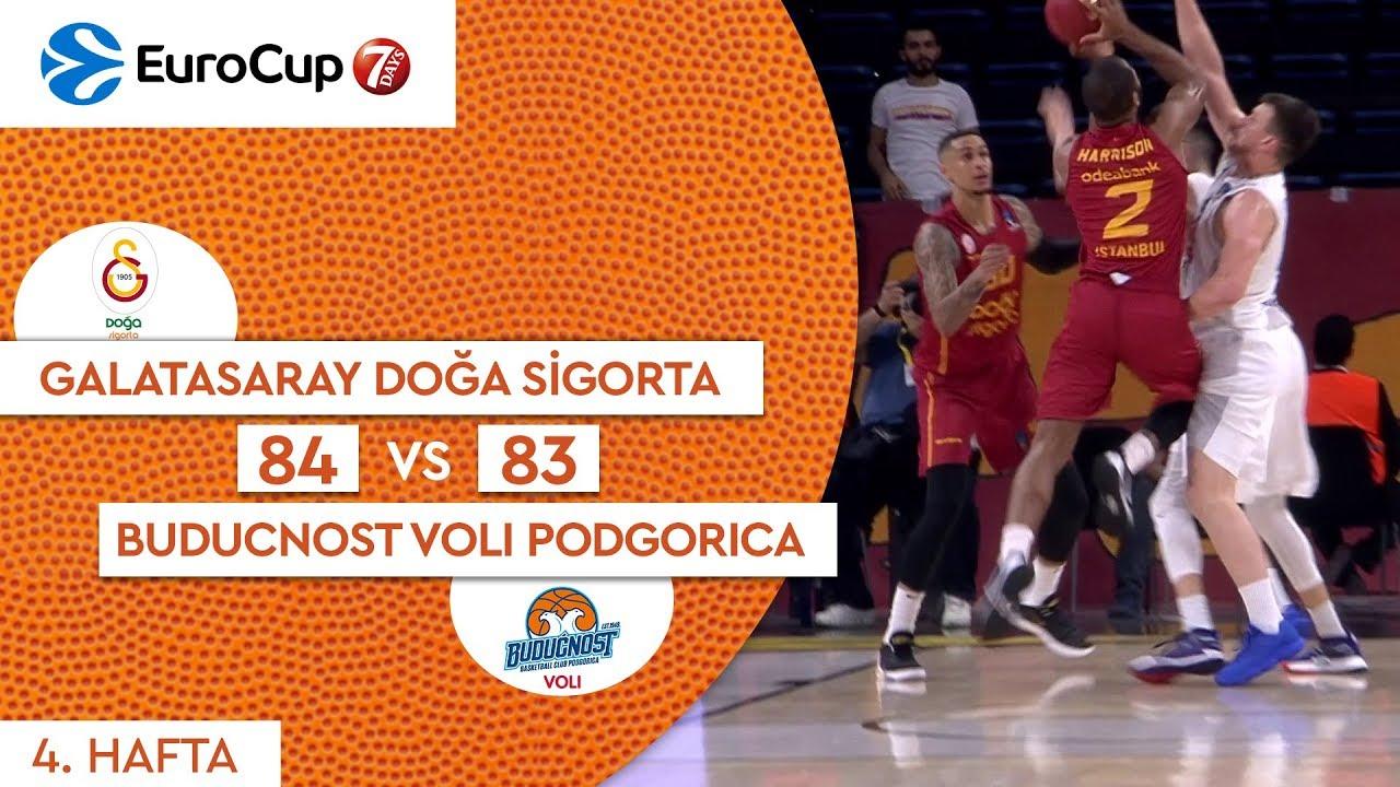 Galatasaray Doğa Sigorta 84 - 83 Buducnost Voli Podgorica | Maç Özeti - EuroCup 4. Hafta