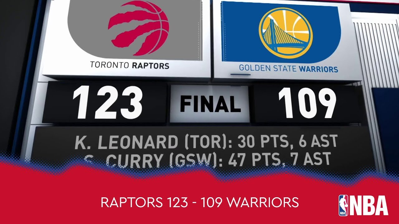 Toronto Raptors 123 - 109 Golden State Warriors