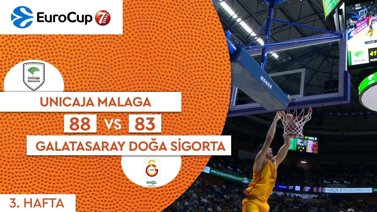 Unicaja Malaga 88 - 83 Galatasaray Doğa Sigorta | Maç Özeti - EuroCup 3. Hafta