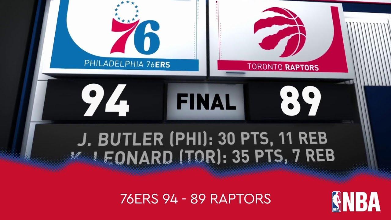 Philadelphia 76ers 94 - 89 Toronto Raptors