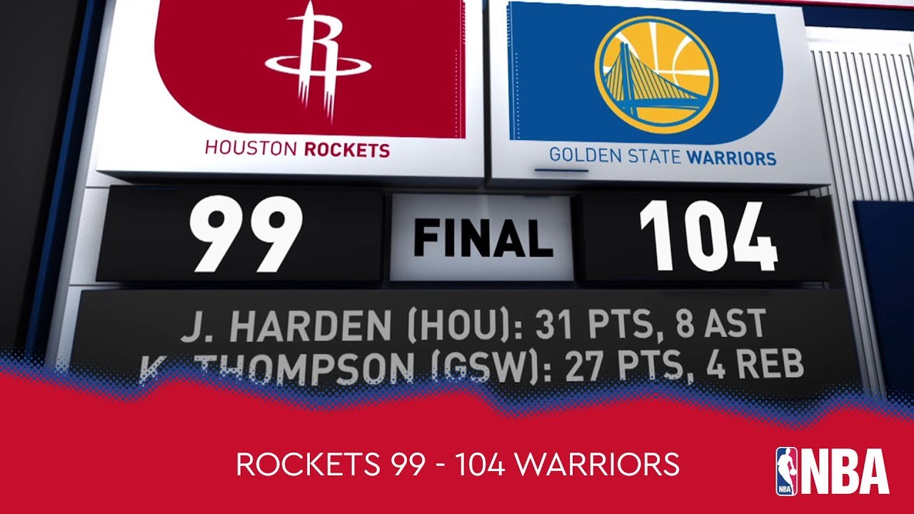 Houston Rockets 99 - 104 Golden State Warriors