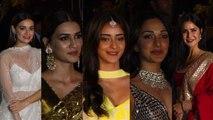 Virat Kohli,Katrina Kaif, Sara Ali Khan, Malaika Arora, ShahrukhGauri Attend Amitabh Bachchans Diwali party
