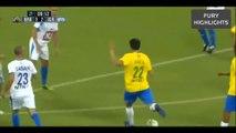 Les buts de Ronaldinho et Kaká contre les légendes d'Israël