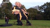 Edenbridge Guy: John Bercow effigy head TORN OFF in high winds