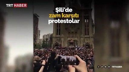 Şili'de protestolar müzik eşliğinde devam ediyor