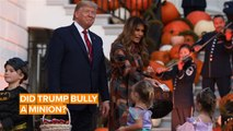 Trump goes viral in awkward Trick or Treat video