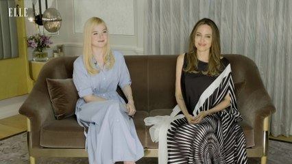 Angelina Jolie Blushes As Elle Fanning Confesses What It's Like To Know The Real Angelina