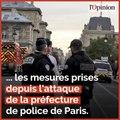 7 policiers désarmés et 33 signalements depuis l'attaque à la Préfecture de police de Paris, détaille Didier Lallement