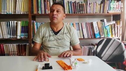 Deficiente visual inventa dispositivo para medir insulina injetável