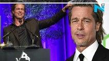 Brad Pitt wins first OSCAR as actor, hugs DiCaprio