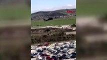 Hatay devlet hastanesi'nde askeri helikopter hareketliliği