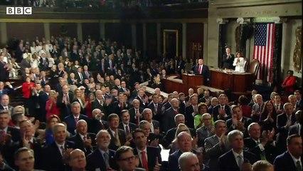 Venezuela's Juan Guaidó cheered at US Congress speech