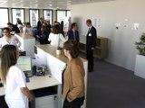 Crédit Agricole - Inauguration d'une nouvelle unité de gestion de sinistres de Pacifica à Saint-Etienne - Publireportage - TL7, Télévision loire 7