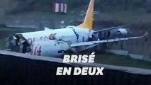 À Istanbul, un avion se brise en deux à l'atterrissage