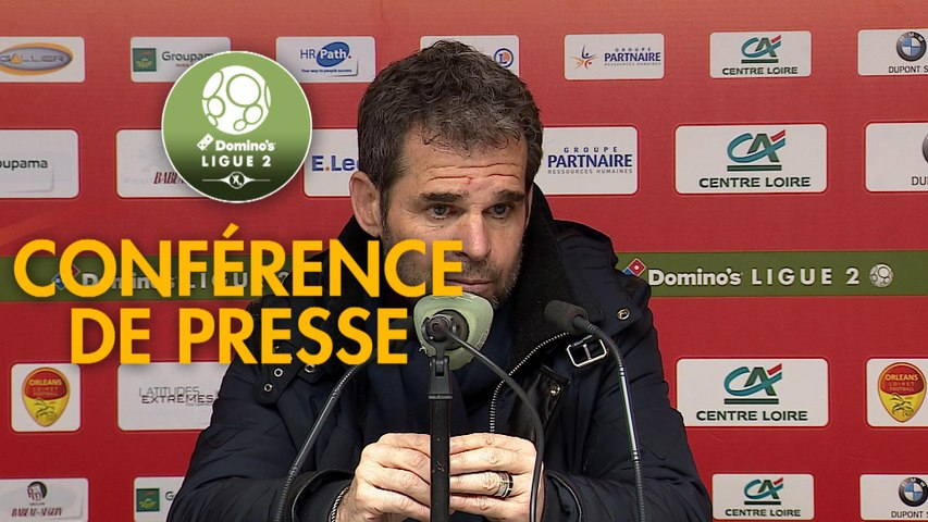 Conférence de presse US Orléans - Rodez Aveyron Football (1-2) : Didier OLLE-NICOLLE (USO) - Laurent PEYRELADE (RAF) - 2019/2020
