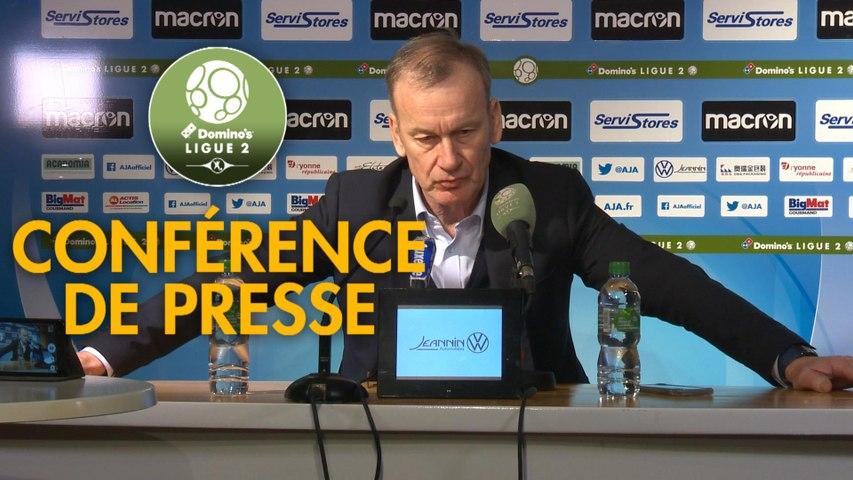 Conférence de presse AJ Auxerre - Clermont Foot (0-0) : Jean-Marc FURLAN (AJA) - Pascal GASTIEN (CF63) - 2019/2020