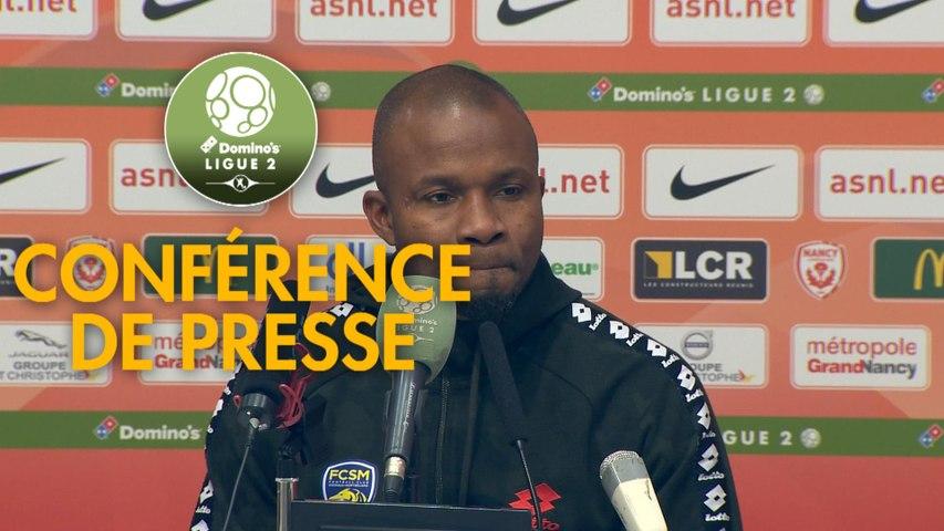 Conférence de presse AS Nancy Lorraine - FC Sochaux-Montbéliard (1-1) : Jean-Louis GARCIA (ASNL) - Omar DAF (FCSM) - 2019/2020