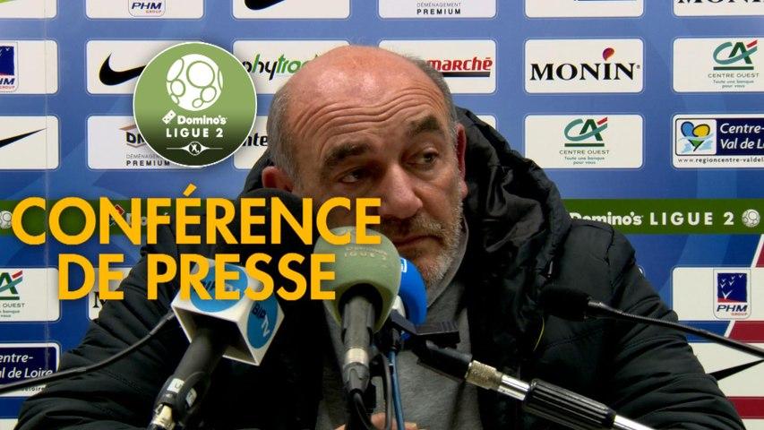 Conférence de presse Châteauroux - FC Chambly (0-3) : Nicolas USAI (LBC) - Bruno LUZI (FCCO) - 2019/2020