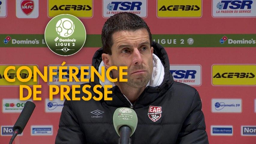 Conférence de presse Valenciennes FC - EA Guingamp (0-0) : Olivier GUEGAN (VAFC) -  (EAG) - 2019/2020