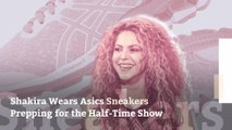 Shakira Wears Asics Sneakers Prepping for the Super Bowl Half-Time Show