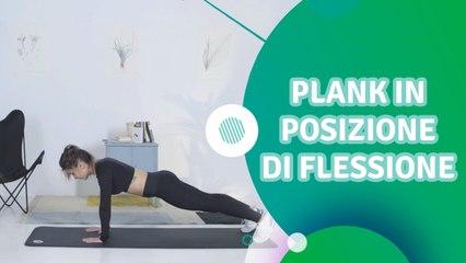 Plank in posizione di flessione - Siamo Sportivi