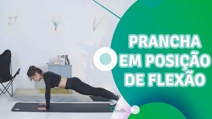 Prancha em posição de flexão - Sou Fitness