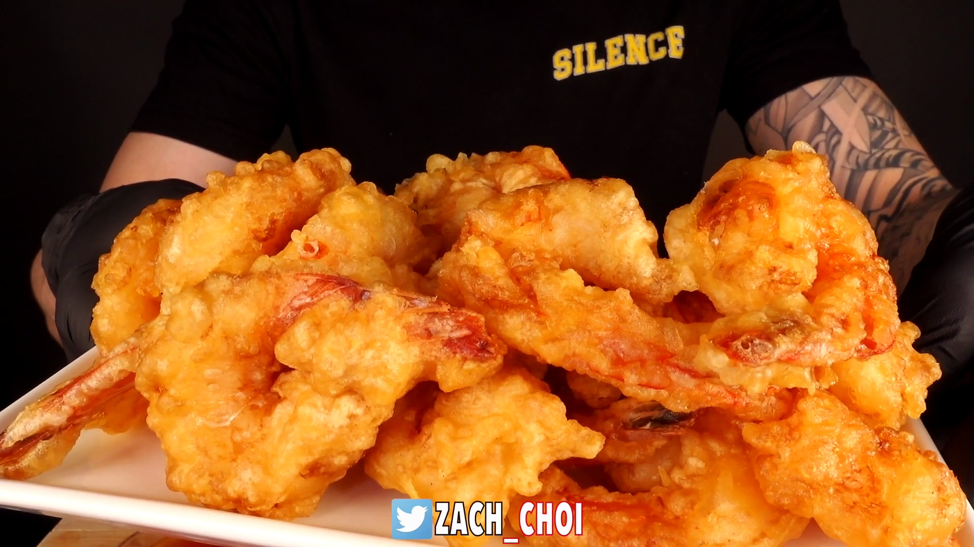 ASMR SWEET CHILI FRIED SHRIMP & FRIED CHICKEN MUKBANG (No Talking) EATING SOUNDS | Zach Choi ASMR