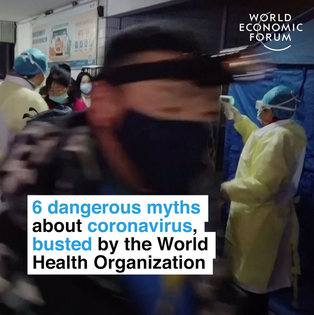 6 dangerous myths about coronavirus, busted by the World Health Organization