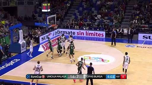 Unicaja Malaga 76 - 68 Tofaş | Maç Özeti - EuroCup Top 16 - 5. Hafta
