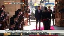 Pedro Sánchez arriba al Palau de la Generalitat
