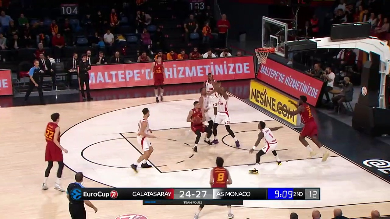 Galatasaray Doğa Sigorta 79 - 91 AS Monaco | Maç Özeti - EuroCup Top 16 - 5. Hafta