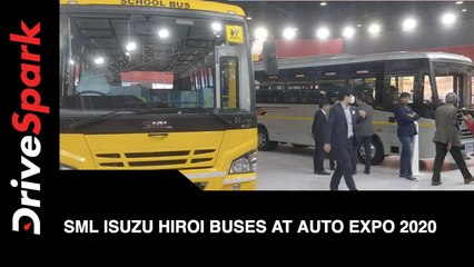 SML Isuzu Hiroi Buses at Auto Expo 2020 | SML Isuzu Hiroi Buses  First Look, Features & More