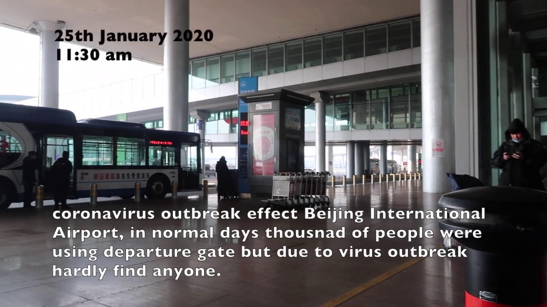coronavirus outbreak effect China Beijing airport