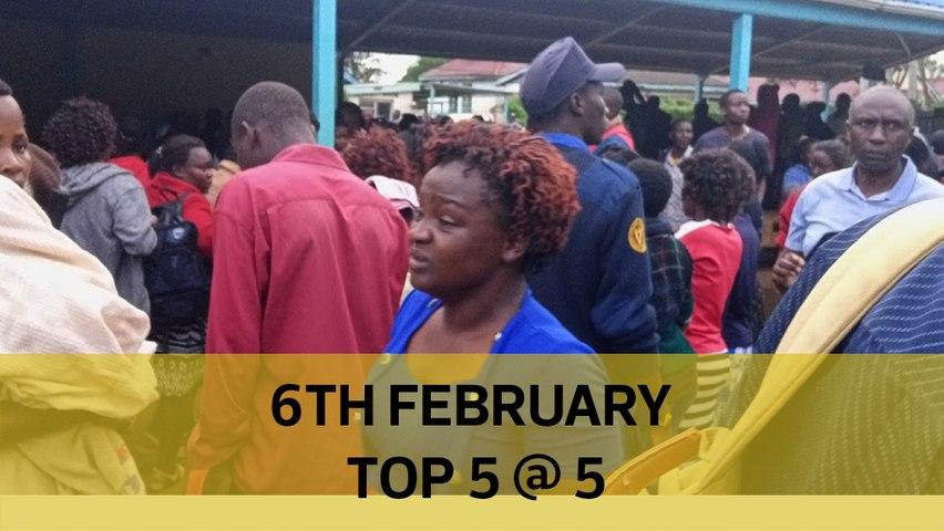 Top 5 @ 5: Uhuru Judiciary power, Kakamega pupils 'suffocated', Court blocks Sonko trip