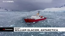Dramatic glacier collapse in Antarctica as tower block-sized ice mass smashes into sea