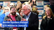 Bernie Sanders Raised $25 Million in January